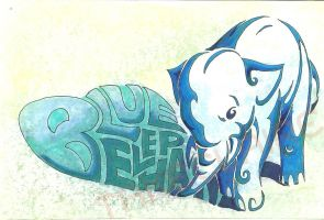 Blue Elephant by takeclaire