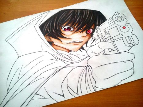 Lelouch Lamperouge WIP 1 by Blaz1ng-Note