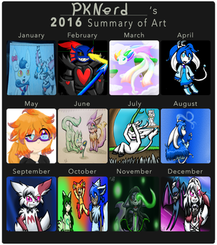 2016 Summary Of Art by PKNerd