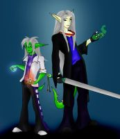 teh-Riat: Dagger and Soverin by LuciferDragon