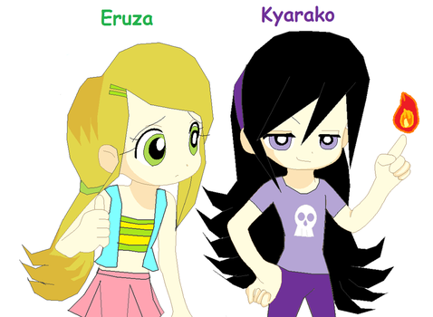 PPGZ Kyarako and Eruza by Elzathehedgehog