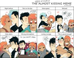 The (Grey's attempt at ) Almost Kissing Meme by MooseFroos