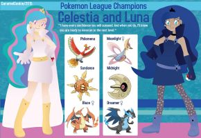 My Little League Champions: Celestia and Luna by CaramelCookie