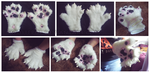 Husky handpaws - For Sale: $75 shipped by whitepup