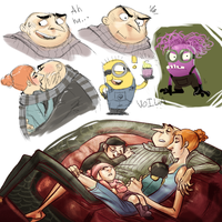 Despicable sketchdump 2 by Skellagirl