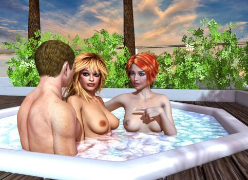 The Hot Tub by EmpressChronicles