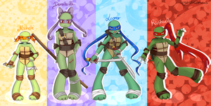 +Fan art/Designs+ FemTurtles by CrystalineDreams