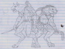 Gnoll and Flind by Filby
