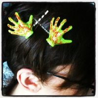 Zombie Hand Hair Bobby Pins by GeekStarCostuming
