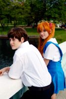 Shinji and Asuka Center Island 2014 #2 by Lightning--Baron