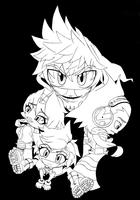 Epic Kepo: TSTNE Collage LineArt by Advent-Axl