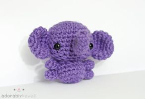 Purple Elephant 5 by tinyowlknits