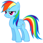 Grumpy Rainbow Dash Vector by 30ColoredOwl