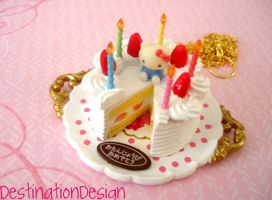Hello Kitty Birthday Cake by AmbiguousAngel