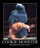 Cookie Monster And John Cena by Vegeta709