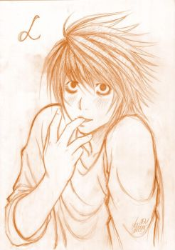 Death Note - L, like Lick by pika