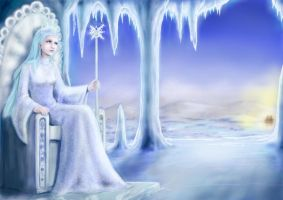 Lonely Snow Queen by cie-cie