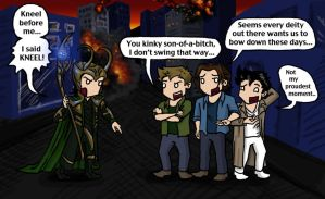Loki vs SPN Boys by blackbirdrose