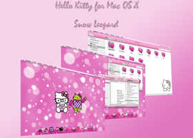 Hello Kitty Mac Snow leopard by LadyPinkilicious
