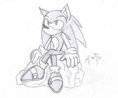 Sonic doodle by AR-ameth