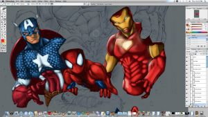My Super Hero W.I.P coloring by JoeyVazquez