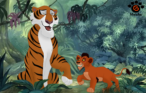 Scar meets Shere Khan by Mayshha