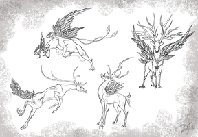 Creature concepts 1 by Zaefyra