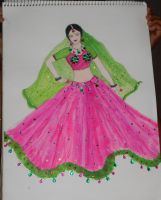 Traditional danseuse by Preettisen
