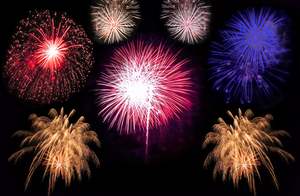 Firework Premade 1600 px wide by WDWParksGal-Stock