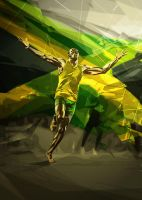 Usain Bolt by eigenI