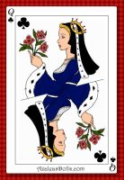 Catherine of Aragon, queen of the deck (clubs) by LadyBolena