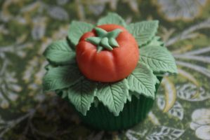 Pumpkin patch cupcake by PiggySpig22