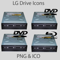 LG DVD Drive Icons by TheEnd1984