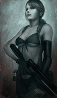 Metal Gear Solid: Quiet by raikoart