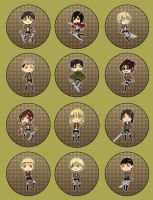 Buttons.Shingeki no Kyojin by belovedseasons