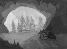 The Cave Sketch by Valhalrion