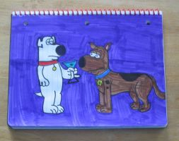 Brian and Scooby Doo by Barricade9-1-1