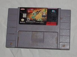 SNES game cartridge by xxsqueekbatstockxx