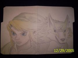 Twilight Princess Link- Wolf by Hyrulekeyblade