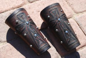 Finished Bracers by Kiltedninja