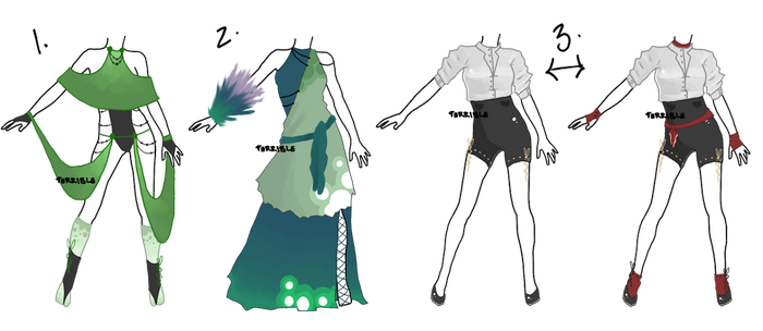 Outfit adopts - closed by TERRlBLE