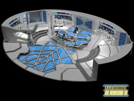 USS Ascendant Bridge cutaway view by calamitySi
