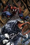 venom spiderman color by Sandoval-Art