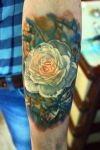 white rose tattoo by NikaSamarina