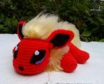 Willow the Crochet Flareon (see description) by ArtisansShadow