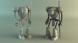 Robot 3D Model by Stake0113