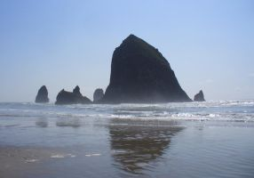Cannon Beach Rock by PamplemousseCeil