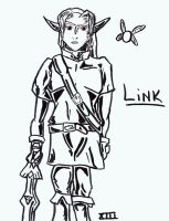 Link sketch by KingdomTwilightXIII