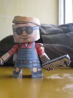 Engineer from TF2 papercraft by mirver