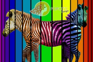 zebra pop art by vosvoskedi